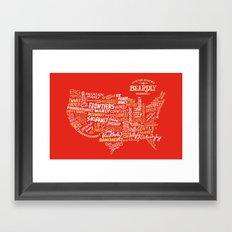 UNITED STATES OF BEARDLY Framed Art Print