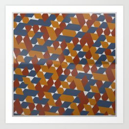 Red-Blue-Orange Art Print