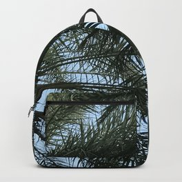 Gentle Palm Tree Leaves Accented by Blue Sky Backpack