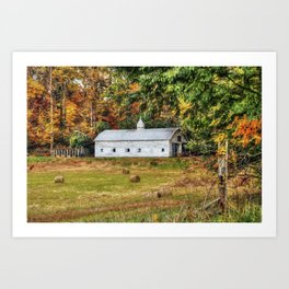 Fall Along 57 Art Print