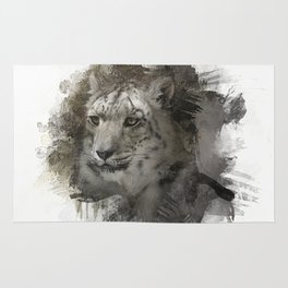 Expressions Snow Leopard 2 Rug