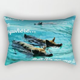 I Haven't Been Everywhere, But It's On My List...[Inspirational Travel Quotes] Rectangular Pillow