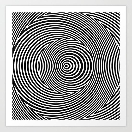 Black and White Dizzy Art Print