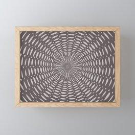 Futuristic Detailed Mandala (Black Gray White) Different Unique Pattern Framed Mini Art Print