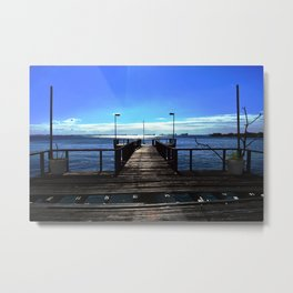 The wood pier Metal Print