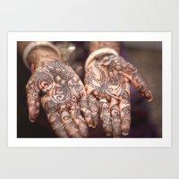 henna Art Prints featuring henna by Floyd Triangle