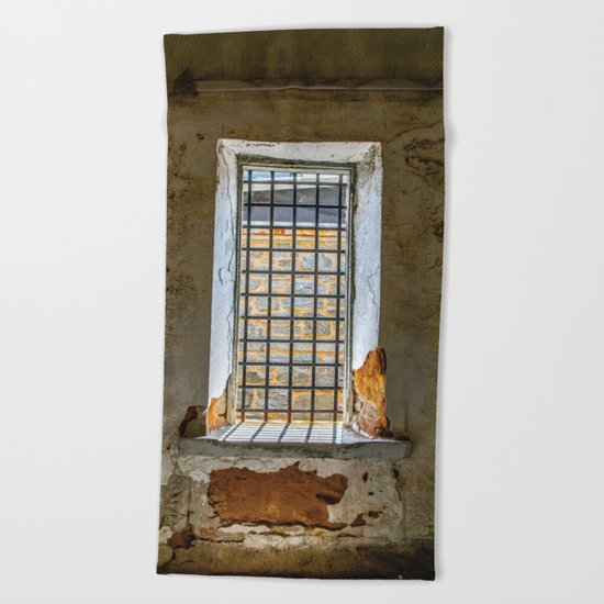 Behind Steel Bars Beach Towel