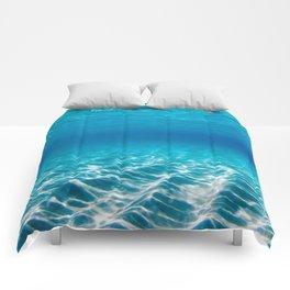 Aqua Blue Bliss Comforters
