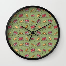 Drummer Pattern | Drums Musician Percussion Music Wall Clock