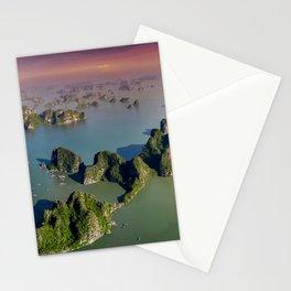 Limestones rock of Ha Long Bay in Vietnam Stationery Cards