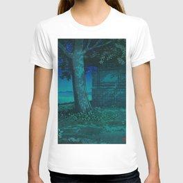 Kawase Hasui Lake Hachirogata, Akita 1927 Japanese Woodblock Print T-shirt