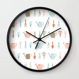 AFE Gardening Tools Pattern Wall Clock