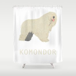 Komondor Shower Curtain