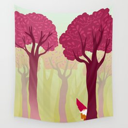 colorful forest with cute dwarf Wall Tapestry