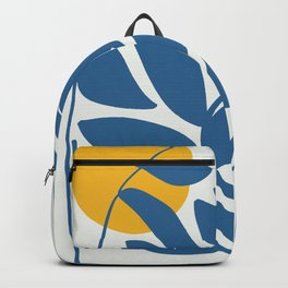 Blue Leaves in Glass Jar Backpack