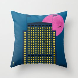 Shell Building by Night. London Throw Pillow