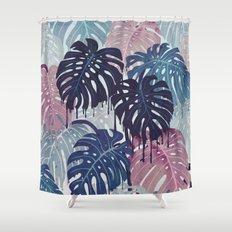 Monstera Melt Shower Curtain