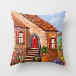Tuscan Farmhouse Throw Pillow