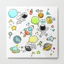 Astro sketch pattern Metal Print