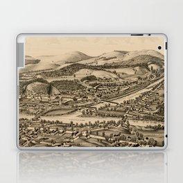 Old Lebanon NH & White River Junction VT Map (1889) Laptop & iPad Skin