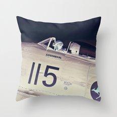 Experimental Pilot Throw Pillow