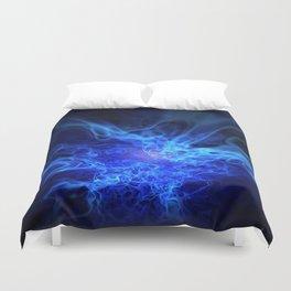 Real Blue Fire Duvet Cover