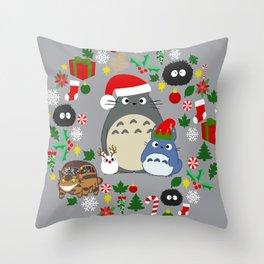 Troll Christmas Wreath Throw Pillow