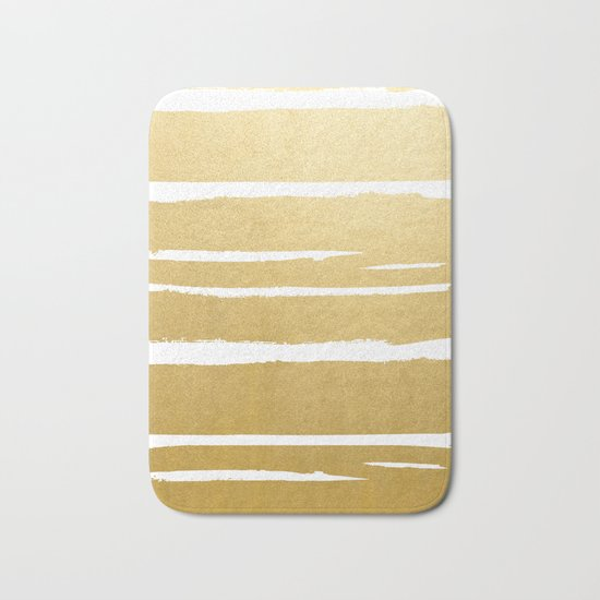 Gold Vibes Only #society6 #decor #buyart Bath Mat