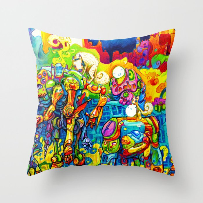 Chatbots Throw Pillow
