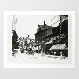 High Street from Courthouse Art Print