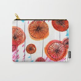 Retro spring flowers Carry-All Pouch