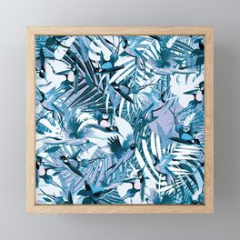 Tropical Mood in Blue Framed Mini Art Print