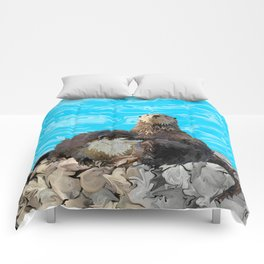 Where the River Meets the Sea Otters Comforters