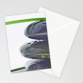 Waterdrops on Hot Stones Stationery Cards
