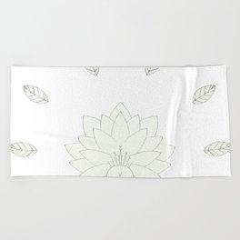 Lotus flower Beach Towel