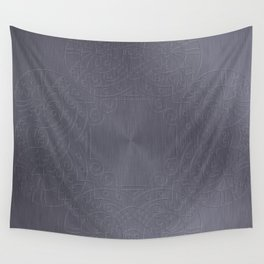 Cool Brushed Metal with a Stamped Design Wall Tapestry