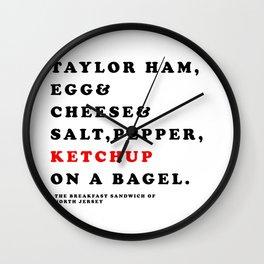 North Jersey Breakfast Wall Clock