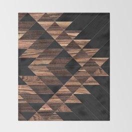 Urban Tribal Pattern No.11 - Aztec - Wood Throw Blanket