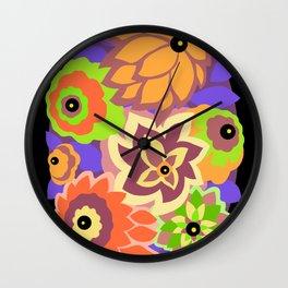 CAMBRIA, ART DECO FLORALS: MURANO MAGIC Wall Clock