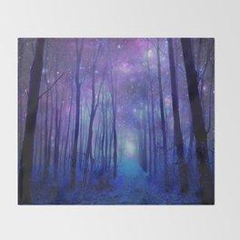 Fantasy Path Purple Blue Throw Blanket