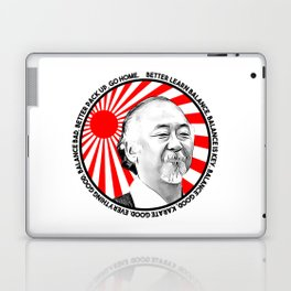 "Mr Miyagi said: ""Better learn balance. Balance is key. Balance good, karate good. Everything good."" Laptop & iPad Skin"