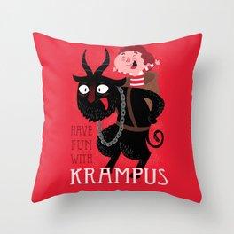 Have fun with Krampus Throw Pillow