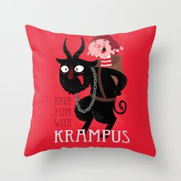 Have fun with Krampus Throw Pillow