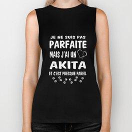 je ne suis pas parfaite mais Jai un akita et cest presque pareil paris t-shirts Biker Tank