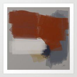 Chromed linear and traced art Art Print