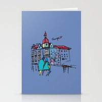 europe Stationery Cards featuring europe by PINT GRAPHICS