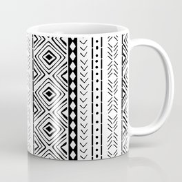 White Mudcloth Coffee Mug