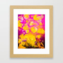 Daydreams in Pink and Gold Framed Art Print
