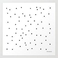 Polka Dotty Art Print