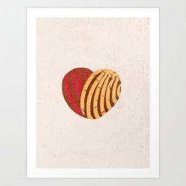 Corazón de Conchas Art Print